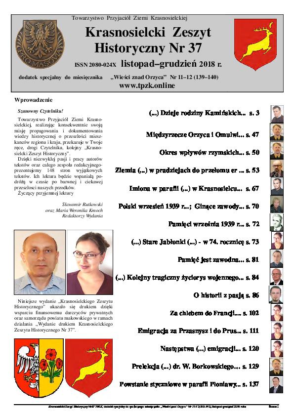 Krasnosielcki Zeszyt Historyczny, 9 (2018), 37, red. S