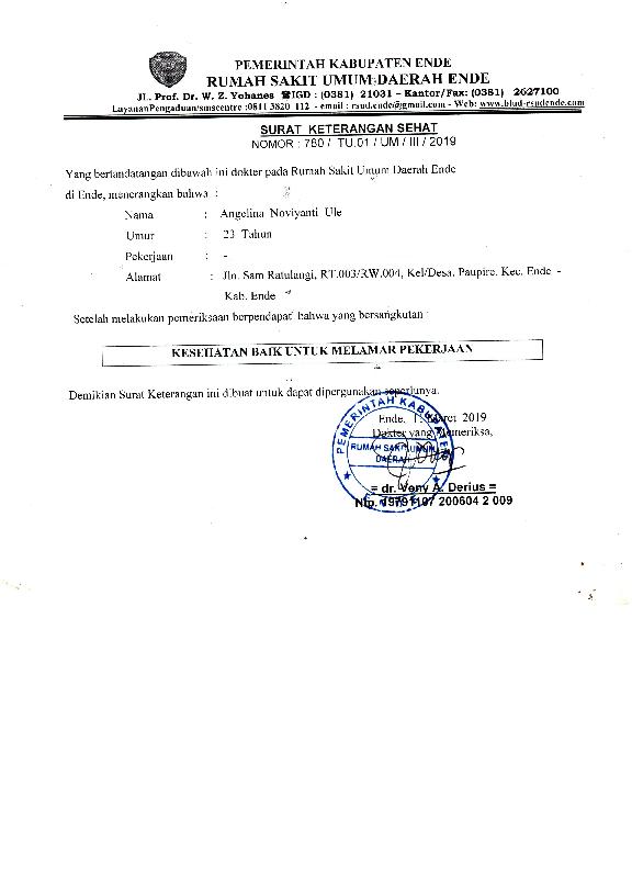 Pdf Surat Keterangan Sehat Noviyanti Noviyanti Academiaedu