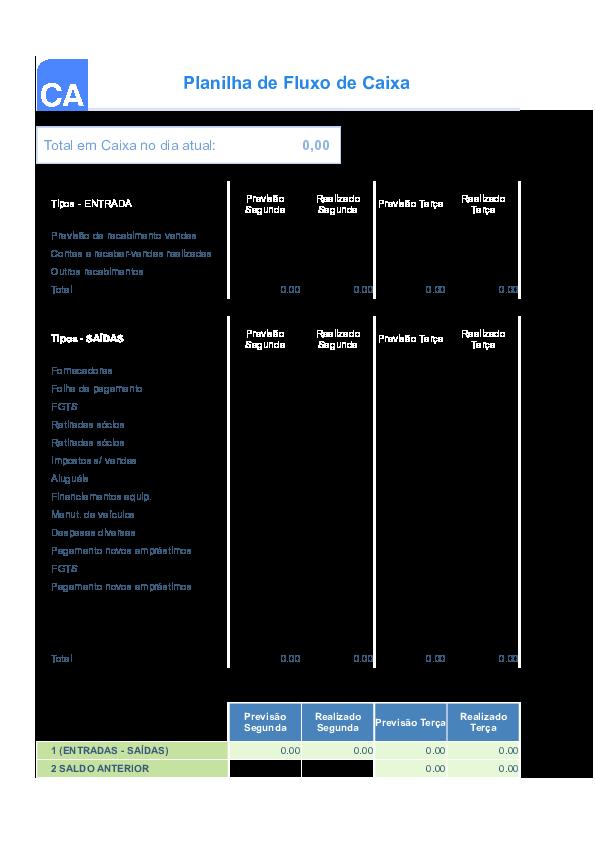 XLS) Planilha fluxo de caixa | Thallyta Motta - Academia edu