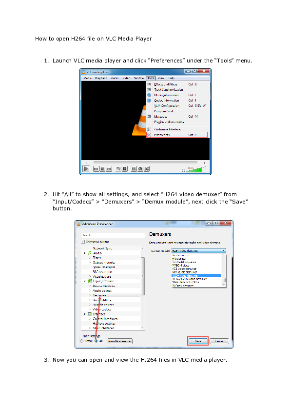 DOC) How to open H264 file on VLC Media Player | keela creative
