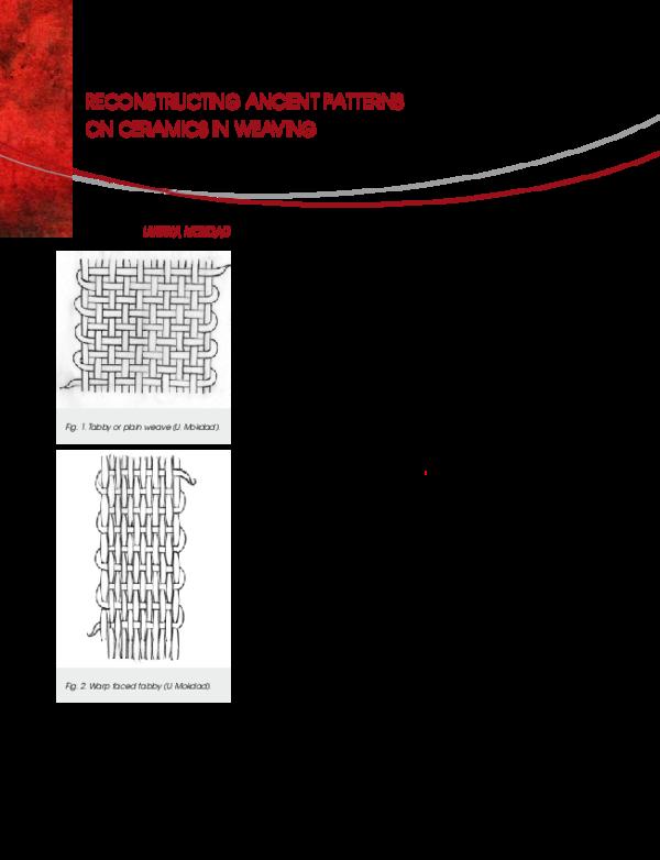 PDF) Ulrikka Mokdad - Reconstructing Ancient Patterns on