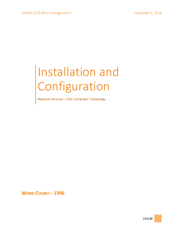 PDF) Network Services - Installation and Configuration