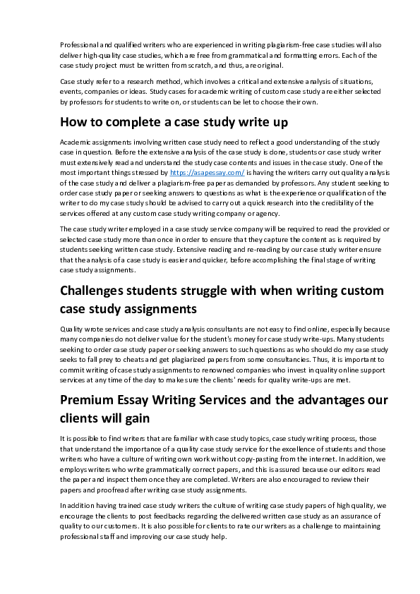 PDF) Case Studies : What is This? | Brian Johnson - Academia edu