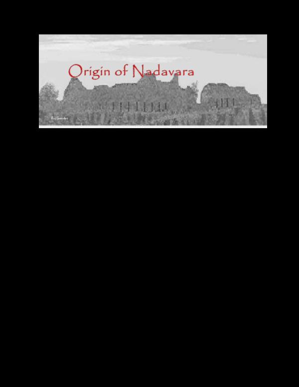 PDF) Origin of the Nadavara clan   Raj N Gaonkar - Academia edu