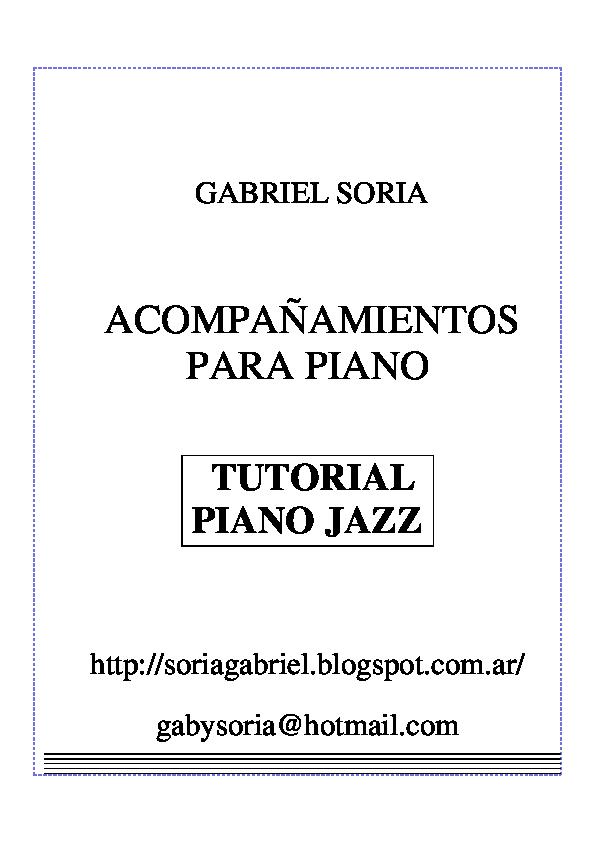 PDF) ACOMPAÑAMIENTOS PARA PIANO TUTORIAL PIANO JAZZ | Daniel