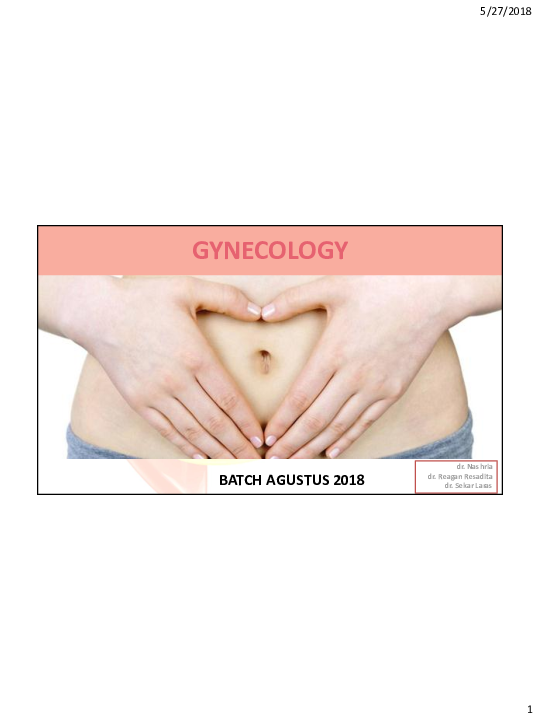 Pdf Mantap Slide Materi Gynecologi Batch Kabir Ardiansyah Academia Edu