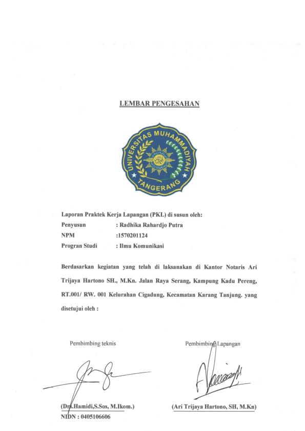 Pdf Laporan Magang Ok Radhika Joo Academia Edu