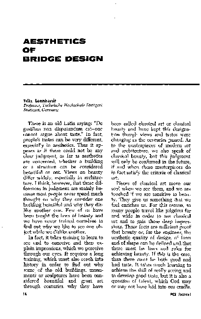 PDF) AESTHETICS OF BRIDGE DESIGN | Walter Vergez - Academia edu