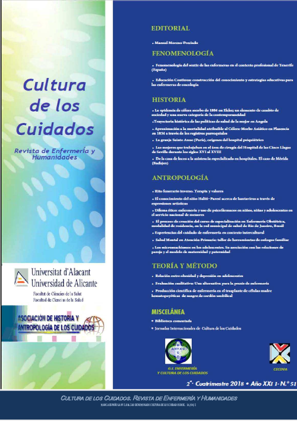 Pdf Cultura De Los Cuidados Revista De Enfermería Y