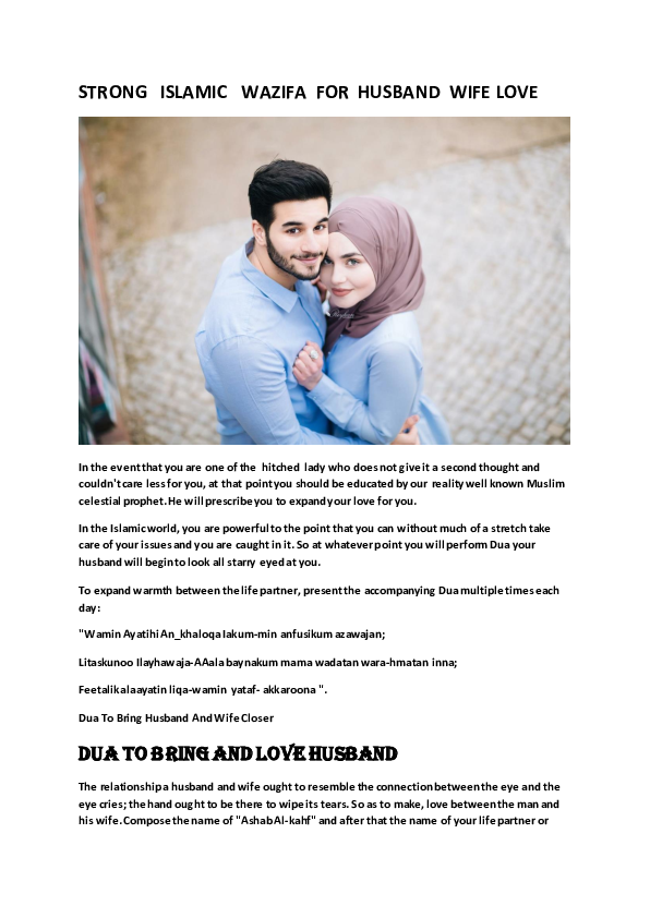 Husband islam and wife romance in 8 Things