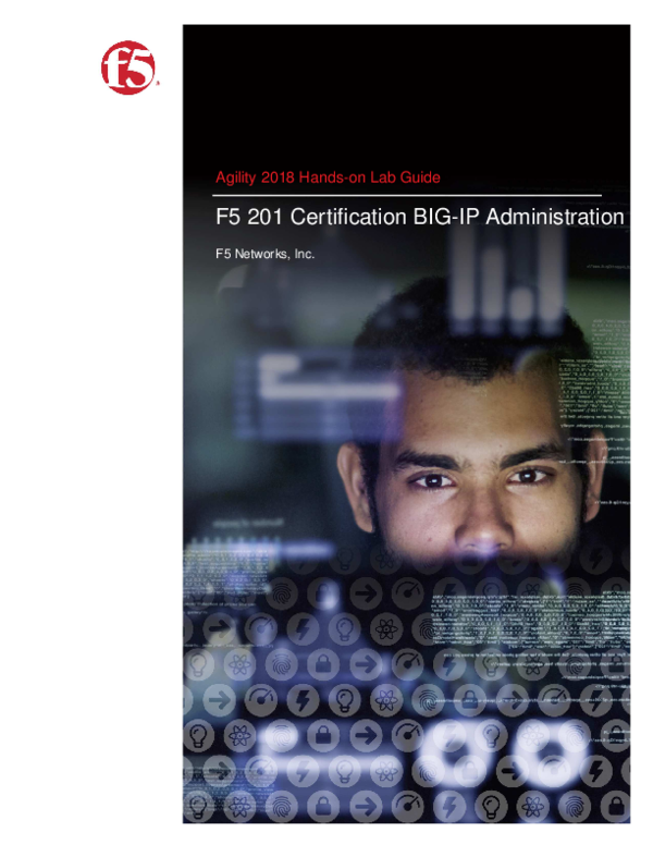 PDF) Hands-on Lab Guide F5 201 Certification BIG-IP Administration