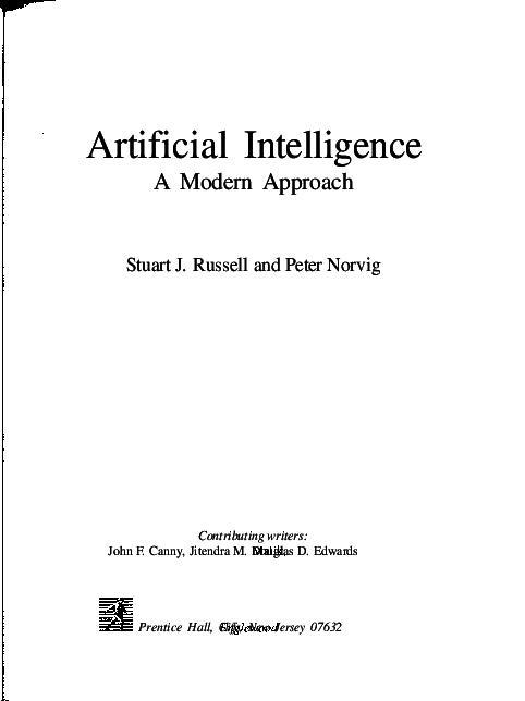 PDF) Artificial Intelligence A Modern Approach   madhumita