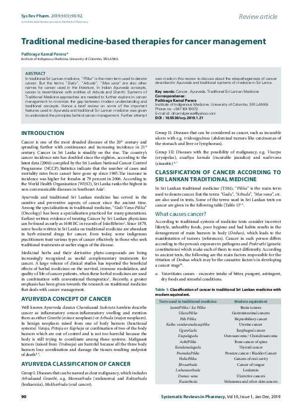 PDF) A multifaceted Review journal in the field of Pharmacy
