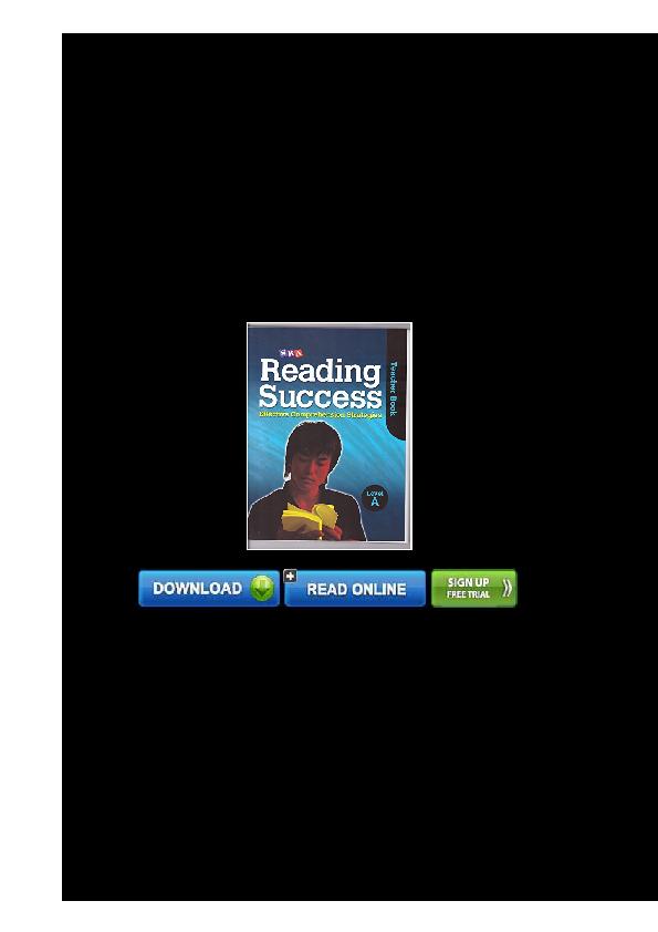 PDF) B e s t 0076184773 SRA Reading Success Effective Comprehension