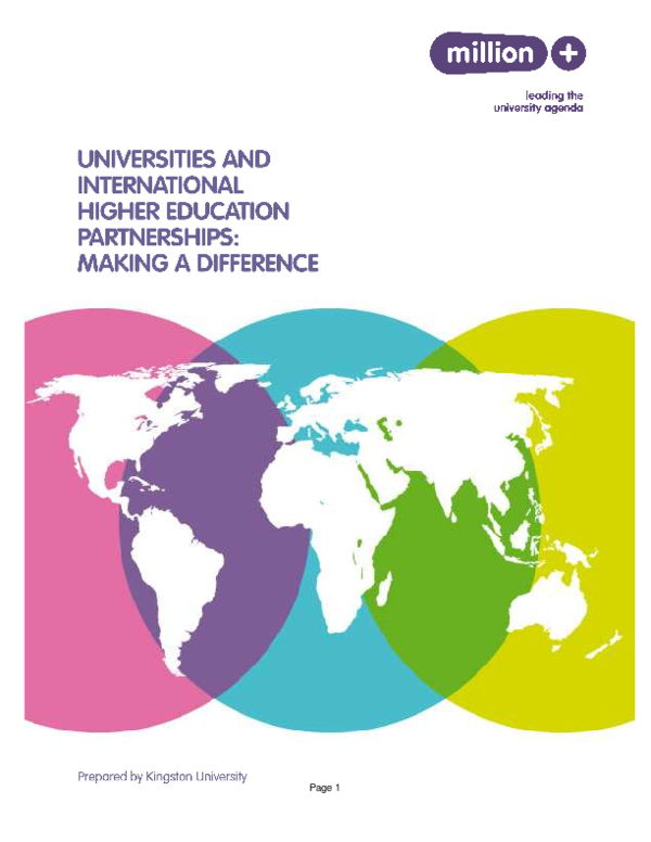 PDF) Universities and international higher education