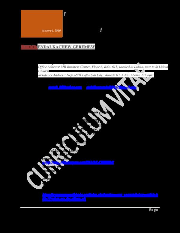 PDF) ENDALKACHEW GEREMEW NEGASH ESQ  LEGAL CONSULTANT እንዳልካቸው