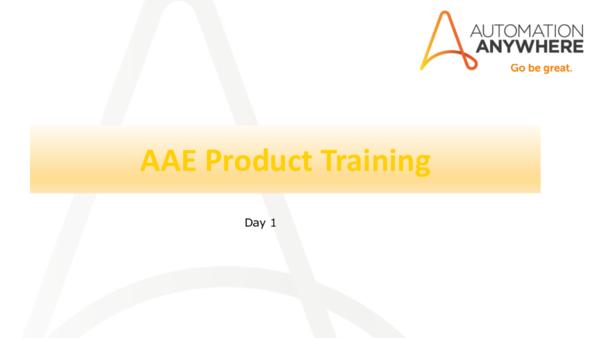 PDF) AAE Product Training | Jhonatan Ramirez Soriano - Academia edu