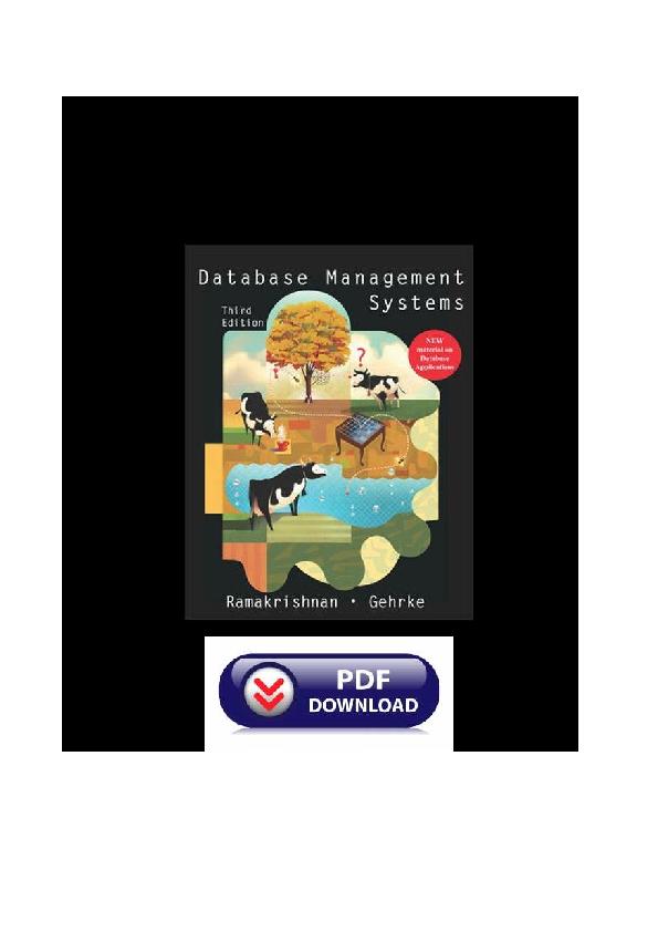 database management system pdf by raghu ramakrishnan free download