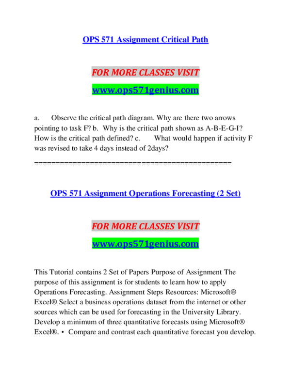 PDF) OPS 571 GENIUS Education Begins--ops571genius com