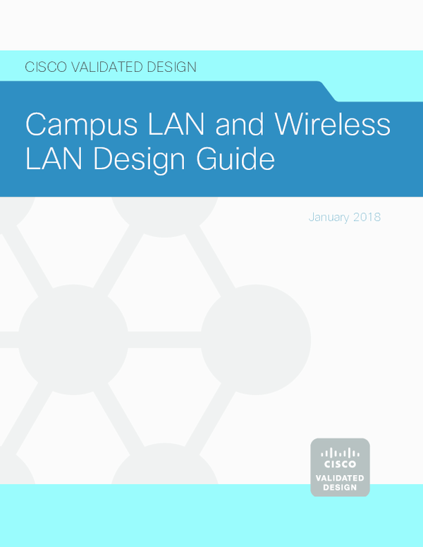 PDF) Campus LAN and Wireless LAN Design Guide | Erick