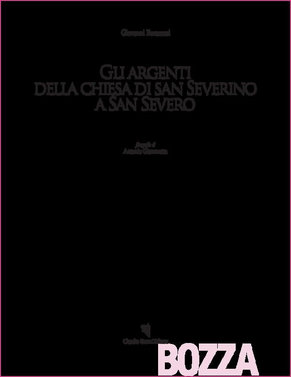 Amato Antonino Fabbrica Artigiana Argenterie.Pdf Gli Argenti Della Chiesa Di San Severino A San Severo