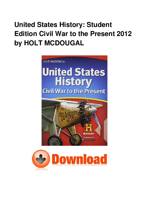 PDF) United States History: Student Edition Civil War to the