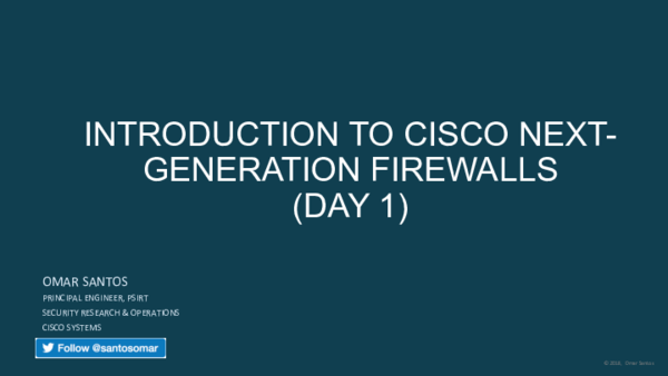 PDF) Introduction Next-Generation Firewall cisco day