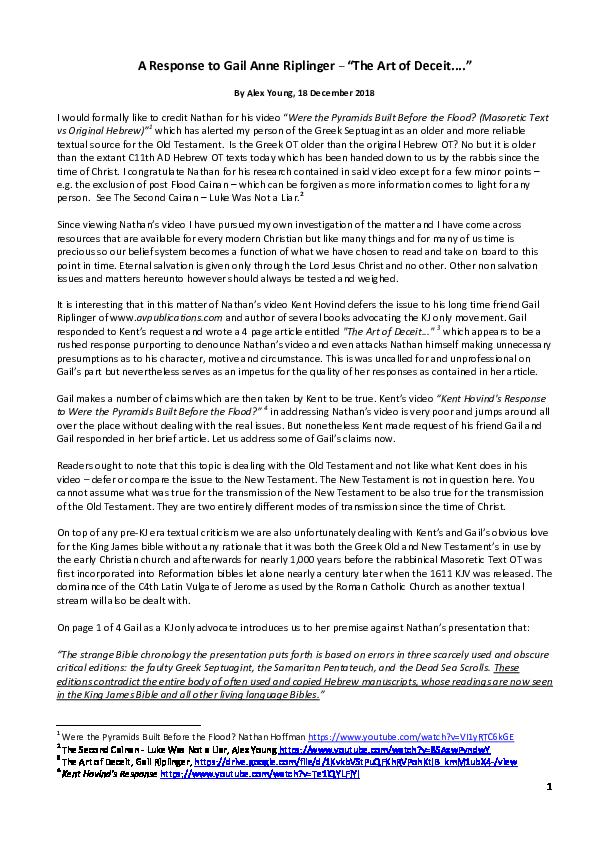 PDF) A Response to Gail Anne Riplinger -