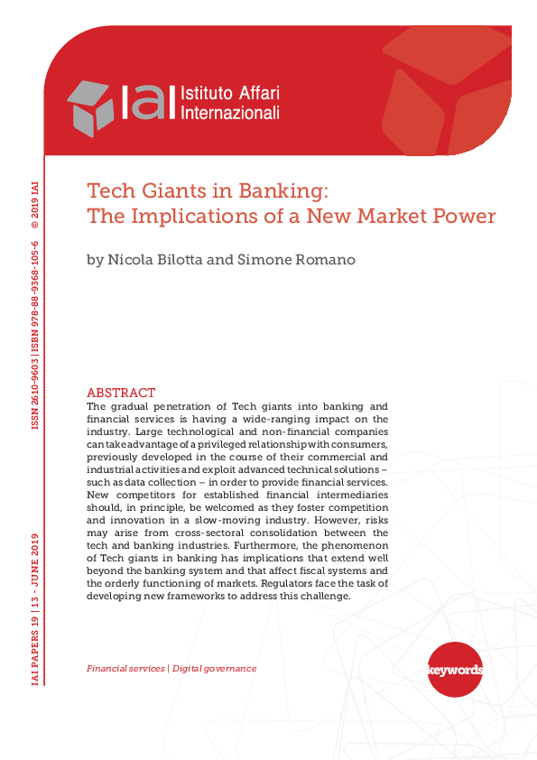 PDF) Tech Giants in Banking: The Implications of a New