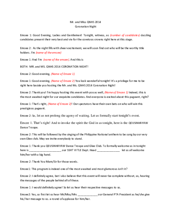 PDF) EMCEE Script for Pageant   hana gesim - Academia edu