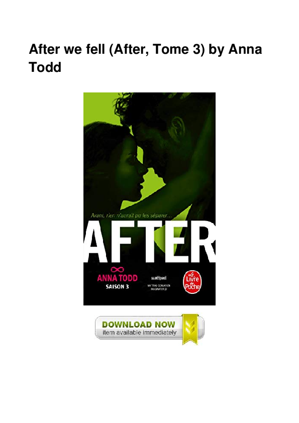 Pdf After We Fell After Tome 3 By Anna Todd Rebecca