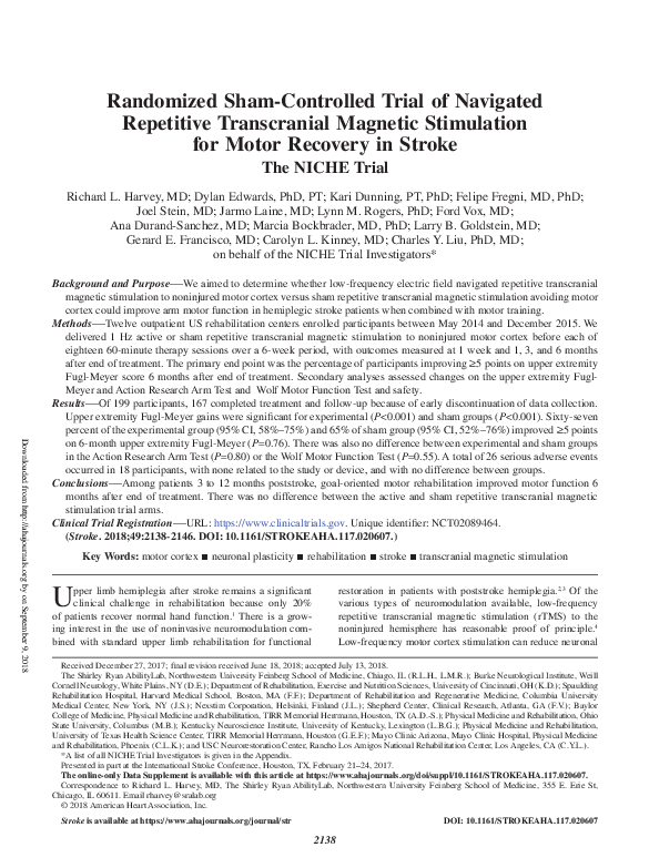 PDF) Randomized Sham-Controlled Trial of Navigated Repetitive