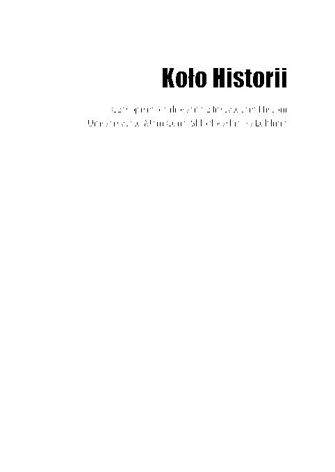 Pdf Koło Historii Czasopismo Afiliowane Z Instytutem