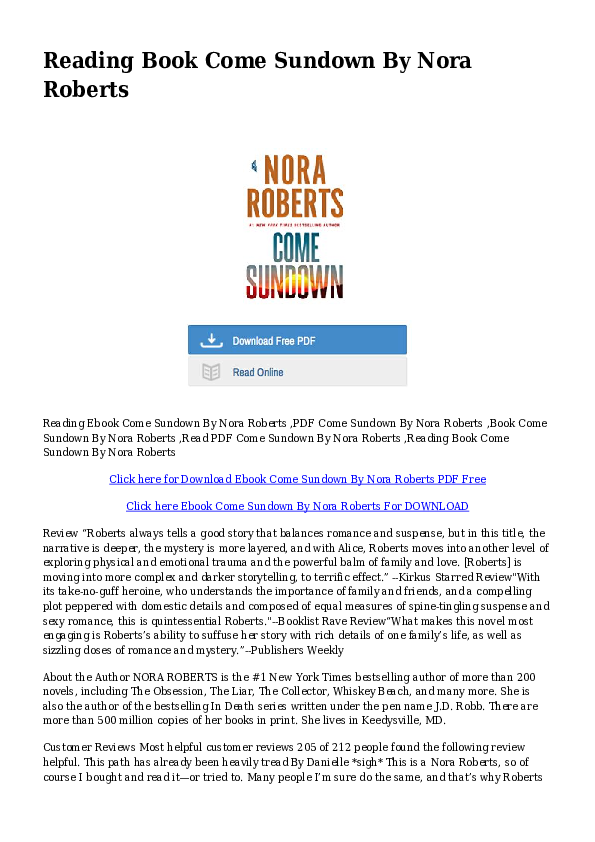 Free Nora Roberts Ebooks Download Pdf Format free download