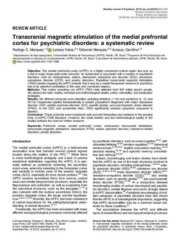 PDF) Transcranial magnetic stimulation of the medial