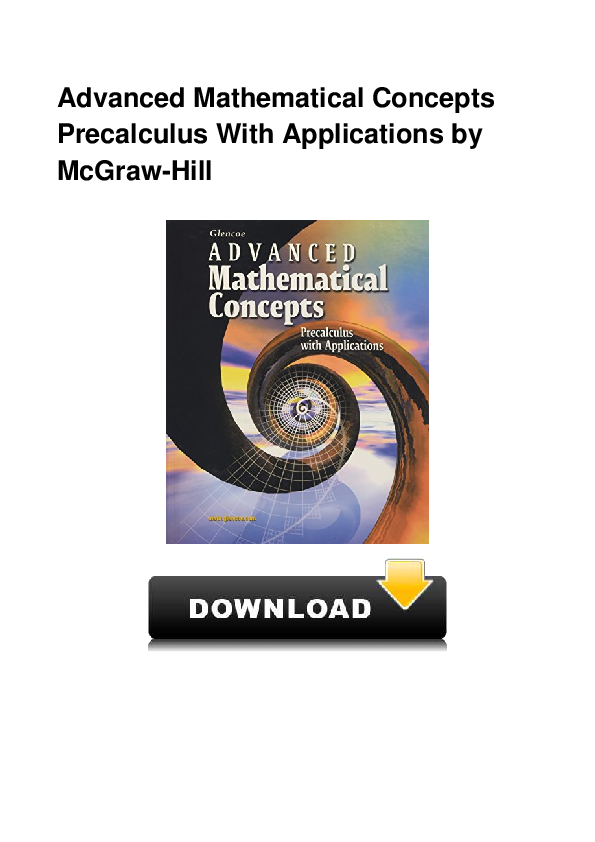 PDF) Advanced Mathematical Concepts Precalculus With