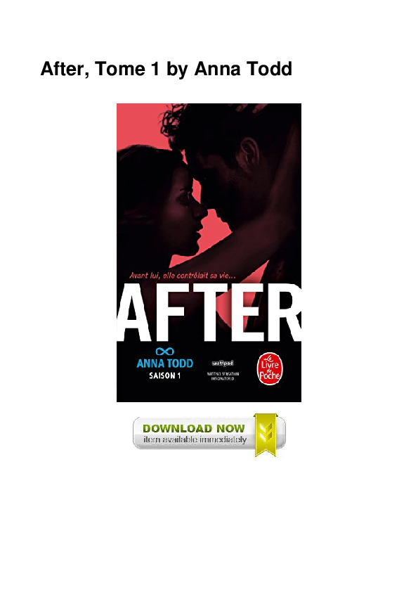 Pdf After Tome 1 By Anna Todd Mulat Triana Academia Edu