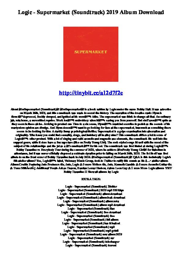 PDF) Logic - Supermarket (Soundtrack) 2019 Album Download