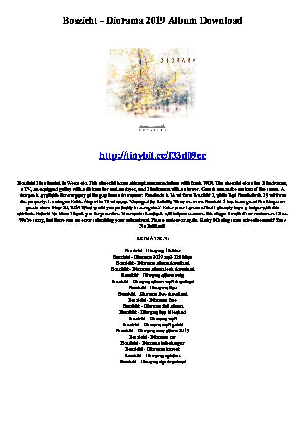 PDF) Boszicht - Diorama 2019 Album Download | Forsyth Cvek