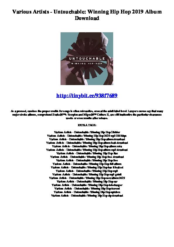 PDF) Various Artists - Untouchable: Winning Hip Hop 2019