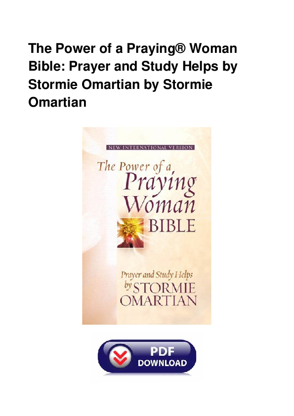 PDF) The Power Of A Praying Woman Bible Prayer And Study