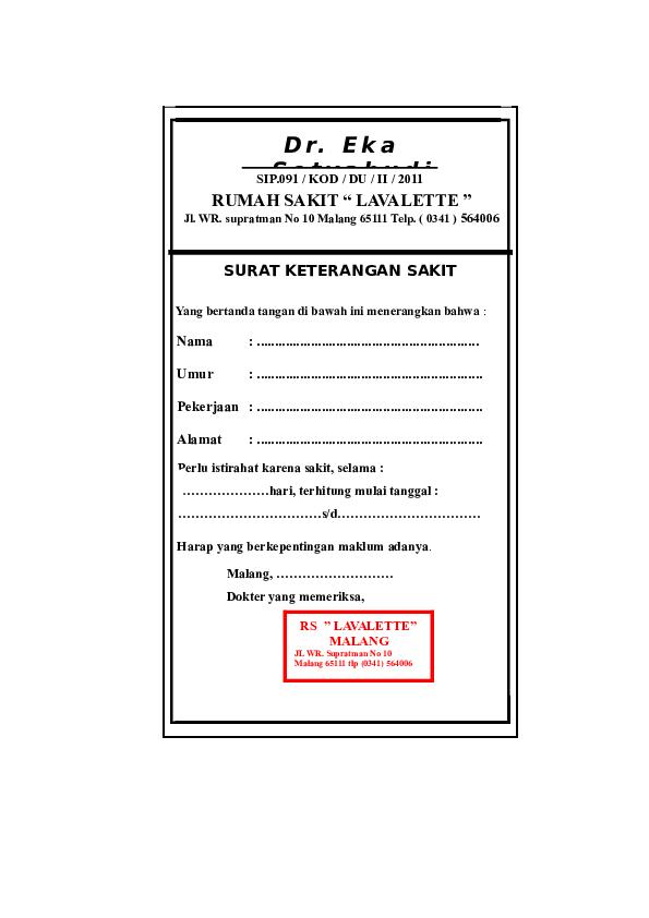 Doc Dokumentips Surat Dokter Lavalette Heri Wardi Utomo