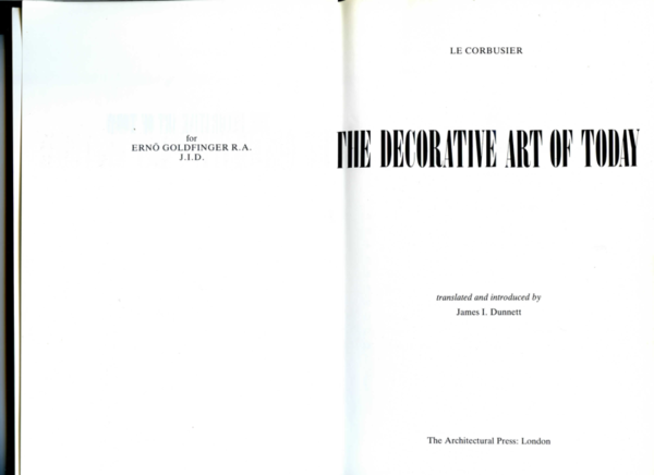 Pdf The Decorative Art Of Today By Le Corbusier