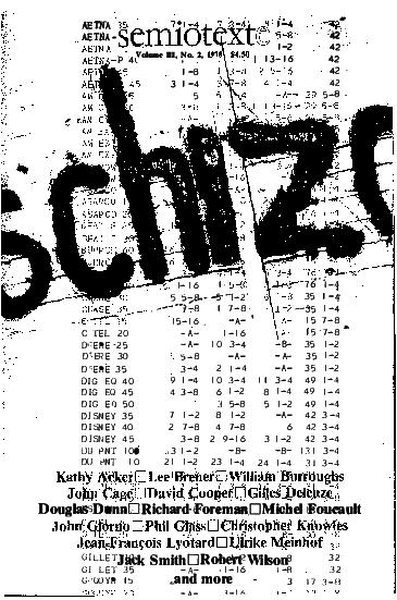 PDF) Semiotext(e) Vol  3 No  2 -Schizo-Culture - (1978)   León HG