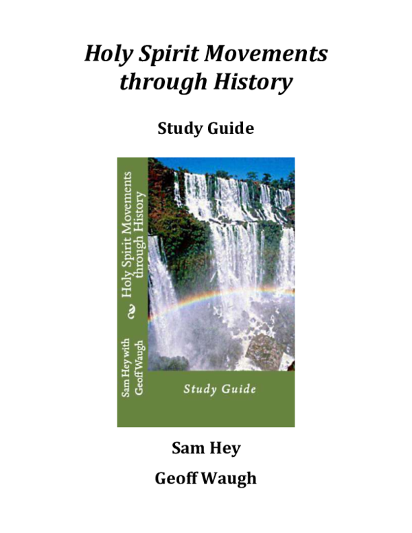 PDF) Holy Spirit Movements through History Study Guide