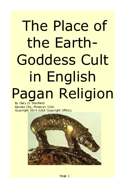 PDF) The Place of the Earth- Goddess Cult in English Pagan