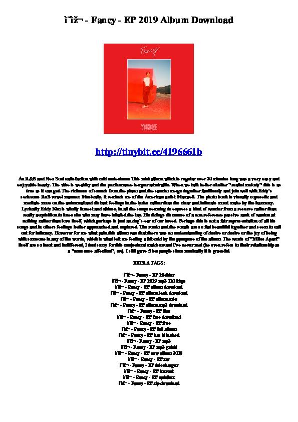 PDF) 영재 - Fancy - EP 2019 Album Download | Nashner Kolton