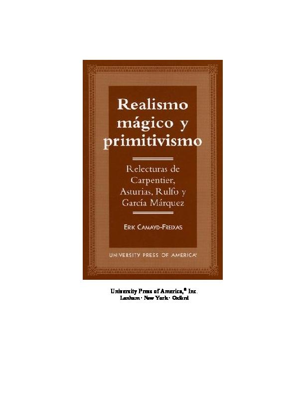 Realismo mágico y primitivismo  d2b9c25a4a0
