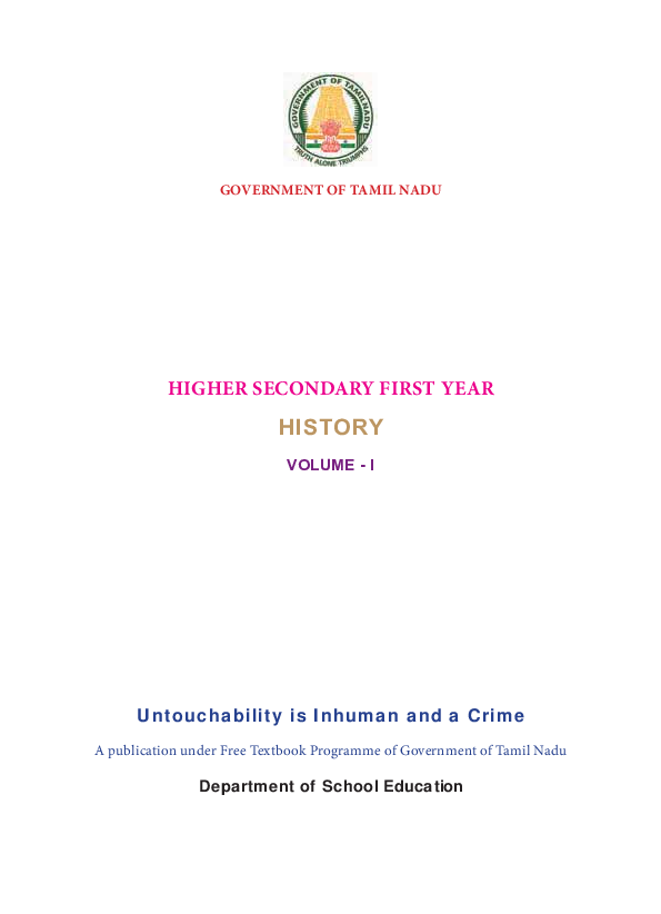 PDF) GOVERNMENT OF TAMIL NADU HISTORY A publication under