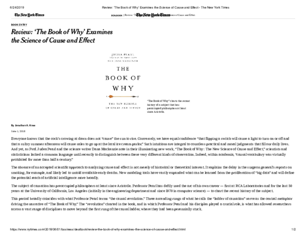 PDF) the-book-of-why-examines-the-science-of-cause-and